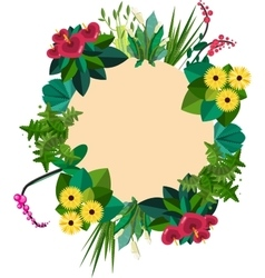 flat colorful circular floral wreaths vector image