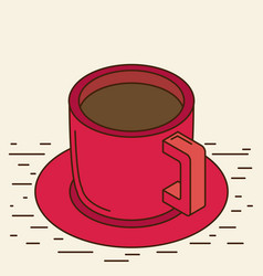 Isometric cup eps 10 vector