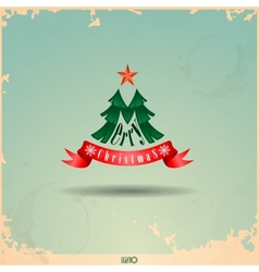 Merry Christmas Christmas Tree vector image