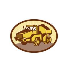 Mining tipper dumper dump truck vector