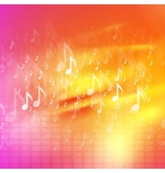 Music notes bright abstract background vector