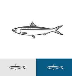 Sardine silhouette vector image vector image