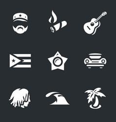 Set of cuba icons vector