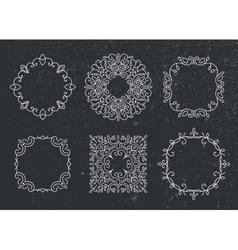 set of monogram frames circles Vintage vector image vector image