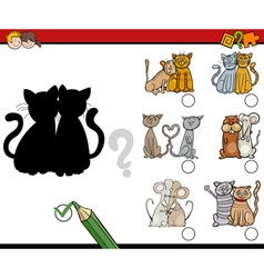 shadows game with animals vector image vector image
