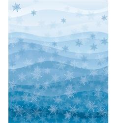 Snowflakes wallpaper vector image