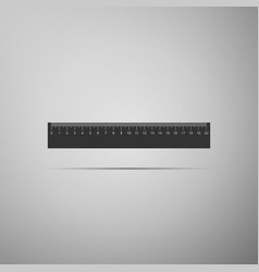 straightedge symbol ruler icon on grey background vector image vector image