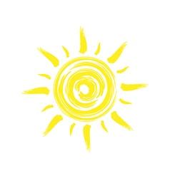 Sun brush single vector