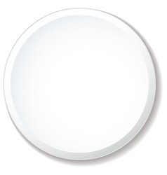 white plate flat vector image vector image