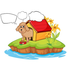 A pet in an island with empty callouts vector image