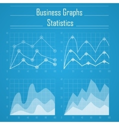 Business graph statistics vector