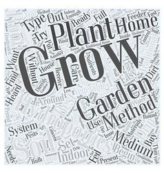 Hydroponics and indoor gardening word cloud vector