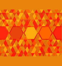 octagon on triangle hot color background vector image