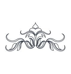 Swirl vintage baroque ornament style line vector