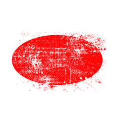 Red ellipse grunge stamp with blank siolated on vector