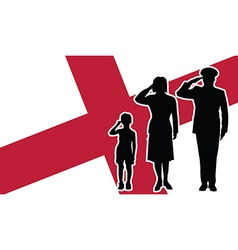 England soldier family salute vector
