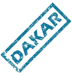 Dakar rubber stamp vector