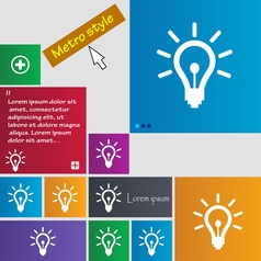 Light bulb icon sign buttons modern interface vector
