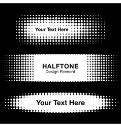 Abstract white halftone design elements vector