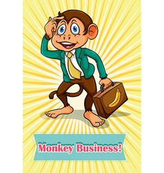 English saying monkey business vector