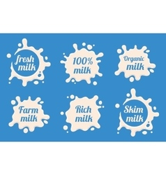 Milk labels set vector