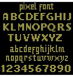 Big yellow pixel font vector image