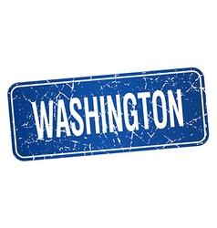 Washington blue stamp isolated on white background vector image