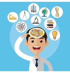Science design colorfull  cartoon vector