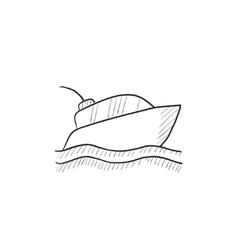 Yacht sketch icon vector