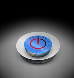 3d power off button vector