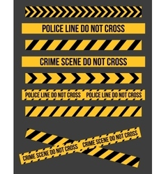 Danger tape lines vector