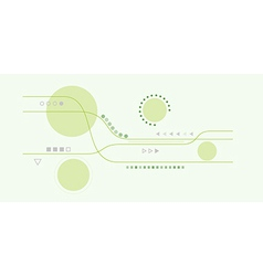 abstract lines and circles vector image