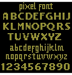 Big yellow pixel font vector image vector image