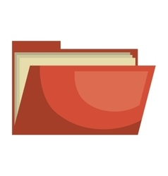 Business folder isolated flat icon vector