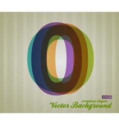 Color transparency symbol 0 vector