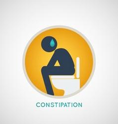 Constipation logo vector