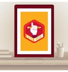 designer poster in frame vector image