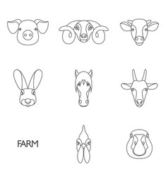 Farm animals with sample vector
