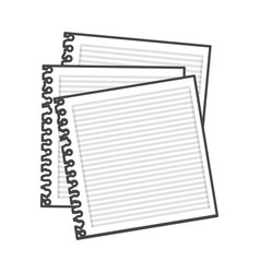 figure notebooks school icon vector image