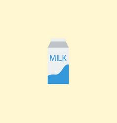 flat icon pocket milk element vector image