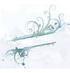 floral decorative banner vector image vector image