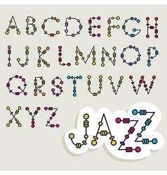 Fun latin alphabet vector