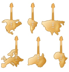 guitar world vector image vector image