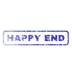 Happy end rubber stamp vector