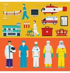 Hospital - Doctors vector image vector image