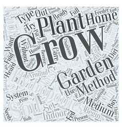 Hydroponics and indoor gardening word cloud vector