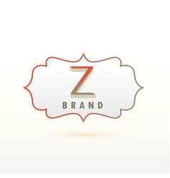 Letter z logo design concept vector