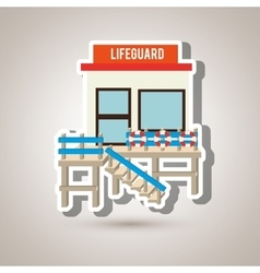 Lifeguard tower design vector