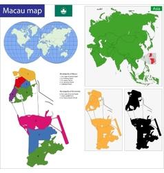 Macao map vector