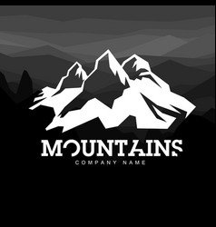 mountain line icon outline logo vector image vector image